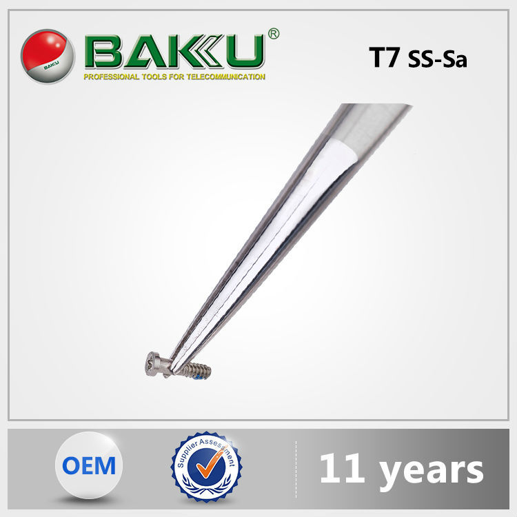 Hot sell BK T7 7-SA BaKu Pointed Tip Mini Tweezers Professional On Anti-Magnetic esd tweezer Not-Corrosive Stainless Tweezers