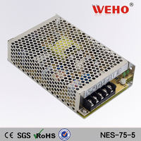 AC to DC Enclosed 5v 15a led power supplies 75w