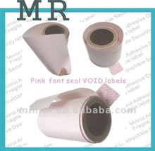 Pink Font Void stickers,VOID sticker tapes,VOID security seal stickers