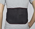 High quality black breathable back support bandage