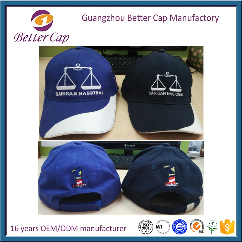 high quality Guangzhou factory 6 panel Malaysia election caps