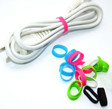 Electric wire tie Electrostatic and High quality silicone rubber tie band