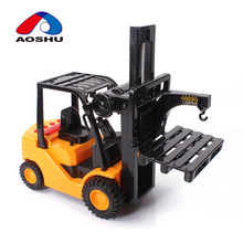 Educational lights friction toys electric internal combustion forklift toy with sounds