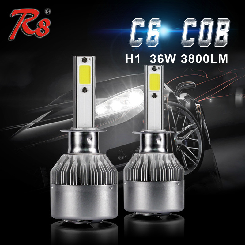 OSP C6 Auto parts car led light bulbs 36W 3800LM cob led headlight 6000K for toyota camry accesorios