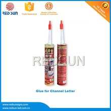 High density silicon glass glue for light box