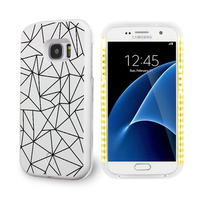 2016 3d printer light up LED lumee mobile back cover phone case for samsung galaxy s7 note 7