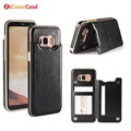 New Products 2017 Innovative Product Crazy Horse PU Leather Back Cover Case for Samsung Galaxy S8 S8 Plus with Card Holder