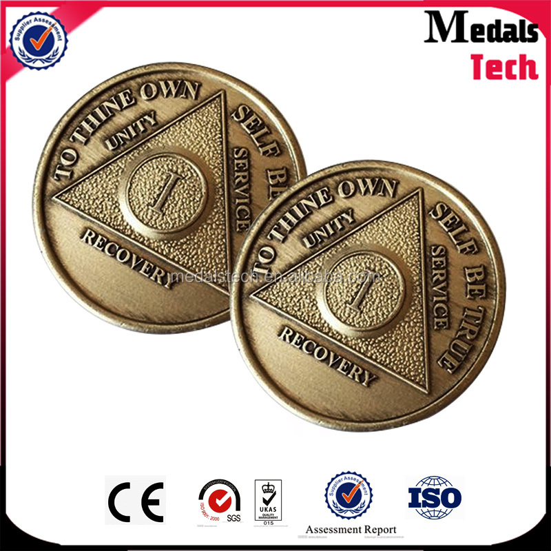 Free sample cheap customized round die casting metal gold plated military army souvenir coin collection