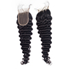 V part human hair closure with 10a grade indian hair raw unprocessed 100 deep wave closure 4*4