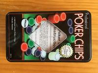 cheap 100 pcs poker set in tin box