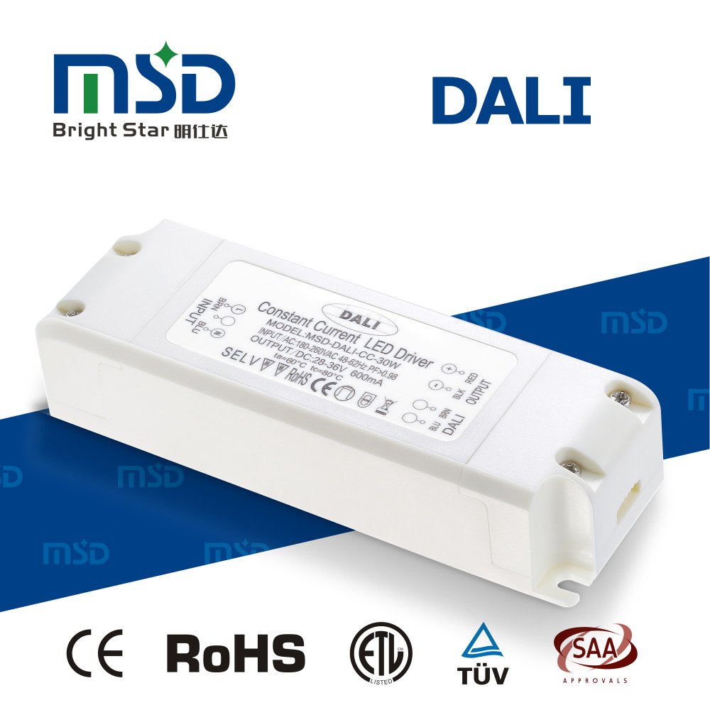 5 years warranty 9W 15W 20W 30W 40W 48W 60W panel light DALI LED driver with CE TUV SAA ROHS