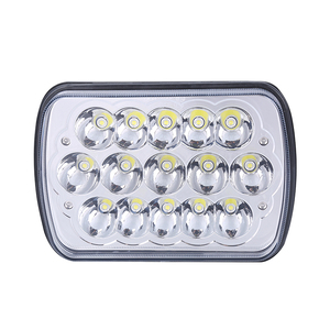 "Hottest 45W 7x6 5x7 7"" Square LED sealed beam Headlight for jeep trucks"