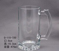 500ml cold color change beer glass cup with handle with printing any design,artwork,photo
