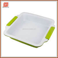 Non-stick ceramic coating baking tray, cake baking pan with silicone handle