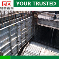 RD building construction aluminum formwork system instead of plastic concrete formwork