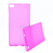 pudding phone covered strawberry color pudding tpu case for huawei p8