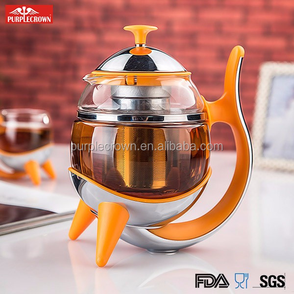 Heat Resistant GlassTeapot for Pu'er,Oolong, flower tea and Coffee