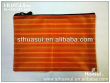 plastic pvc mesh zipper bag for documents keeping