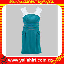 OEM stylish high quality comfort sleeveless cotton elegant dresses for full figured women