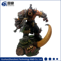 World of Warcraft Hellscream statue WOW Anime Action Figures