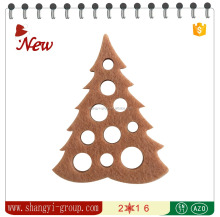 (XM4-06)Pierced christmas tree mutil-color embellish home label