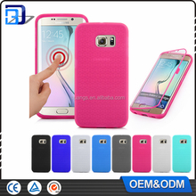 High Quality Touch Screen Flip Transparent Soft TPU+PC Case Cover For Samsung S6 Edge Silicone Cover Touch Case China Supplier