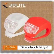 silicone led bicycle tail light with difference color can be choosed Flexible Instal on bike Designed with the water resistant