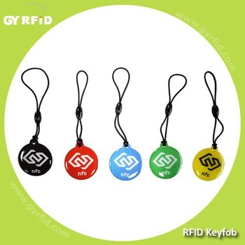 KEE T5577 radio frequency identification Epoxy Keyfobs for alarm system ( GYRFID )