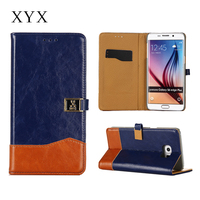 cool appearance customised closure leather for samsung s6 case, for samsung galaxy s3 s4 s5 s6 s6 edge note 2 3 4 j4 j5 j7