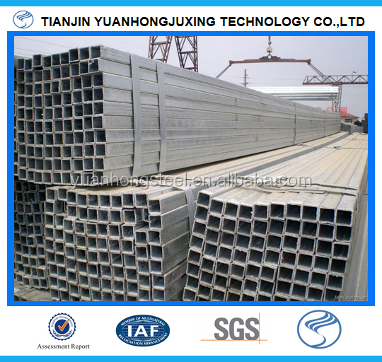 Green Package Manufacture 50x50 Building material Q195/Q215 erw welded pre galvanized square structure steel pipe/tube