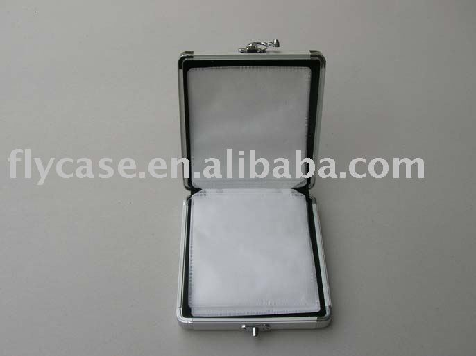 2014 new design Aluminum bible CD case with 14 cd bags