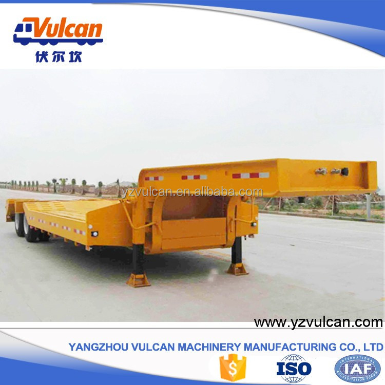 Double axle low bed platform truck trailer for sale