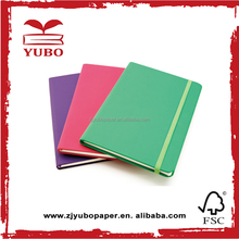 Imported Custom school notebook paper pu leather diary