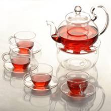 Chinese Design Good Quality Blooming Tea Set Glass Tea Pot And Cup
