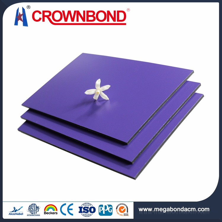 Crownbond Hot Sale PVDF/PE heat resistant building material aluminum composite panel