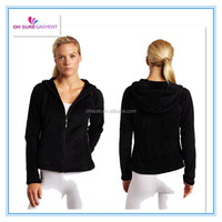 100% cotton french terry or fleece womens sports hoody