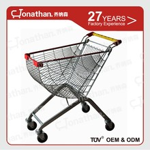 65L mobile Four wheels supermarket equipment shopping trolley