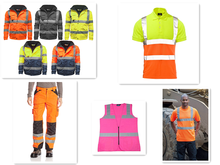 Men's Hi Vis Polo Shirts, High Viz Visibility Short Sleeve Safety Work-wear Shirt, Reflective vest