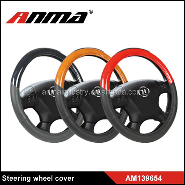 mixed color PVC foam printing car steering wheel cover