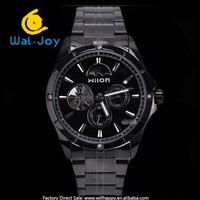 Wilon balck stainless steel stylish high quality mechanical men waterproof watch(WJ-4110-2)