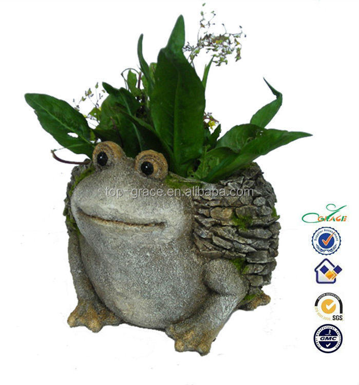 Animal shape planter and pot garden resin frogs