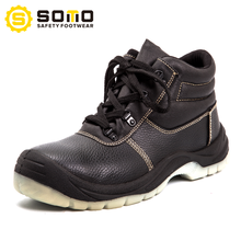 SOMO Wholesale Cheap Middle-Cut Casual Leather Safety Men Shoes In China