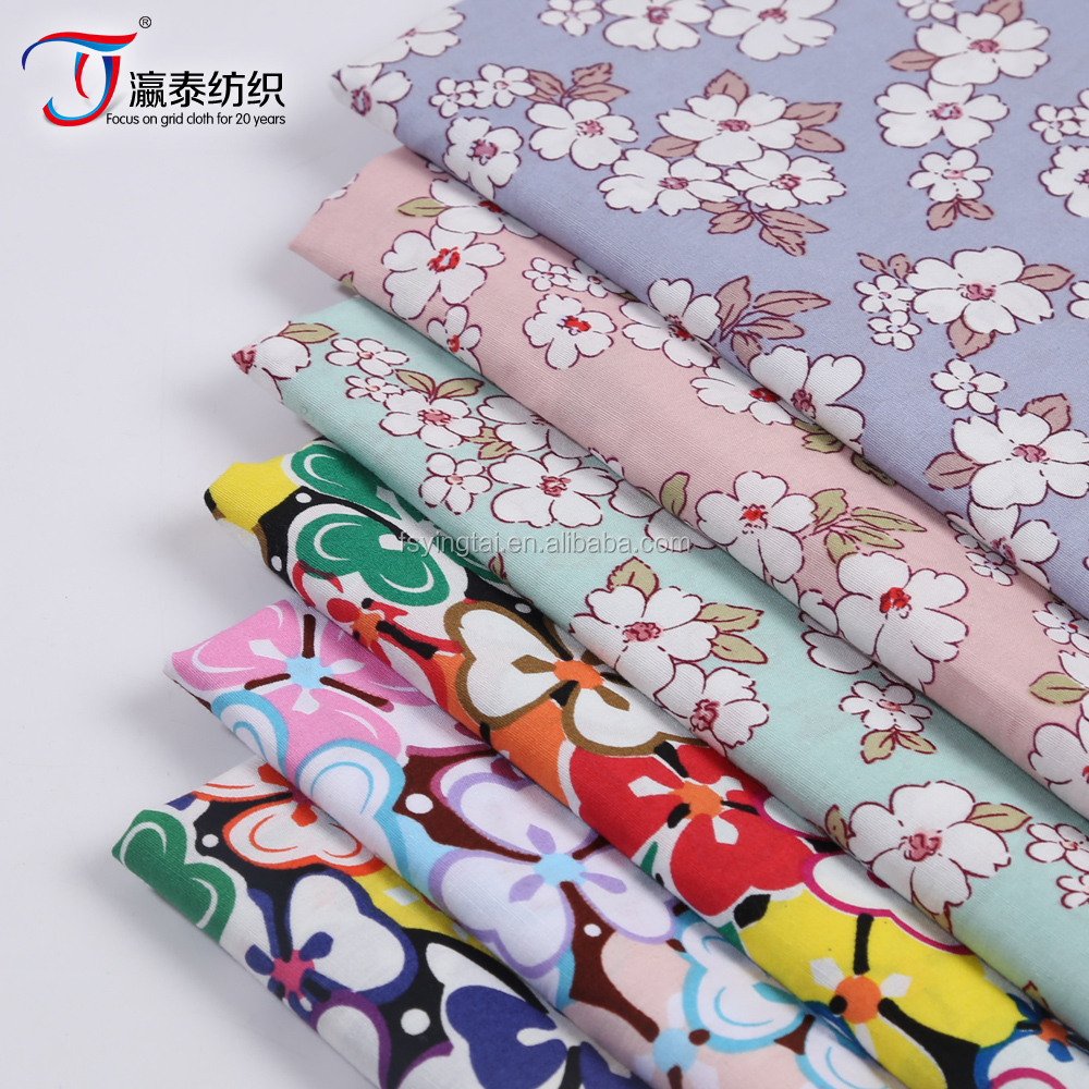 2016 fashion wholesale 100% cotton poplin printed fabric
