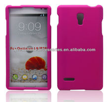For LG Optimus L9 P769 Pink Rubber Hard Plastic Cases Skin Covers