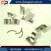 China magnets suppliers neodymium curved magnets for sale