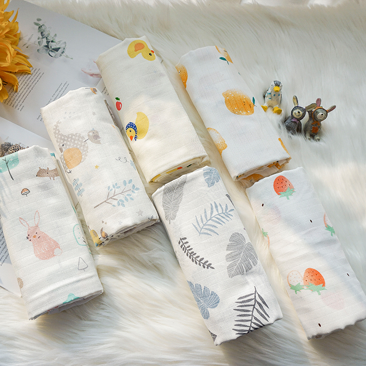 High quality breathable printed woven swaddle cotton muslin blanket cotton <strong>baby</strong>