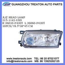 HEAD LAMP 26010-F4205 26060-F4205 FOR NISSAN SUNNY B13 05 MEXICO