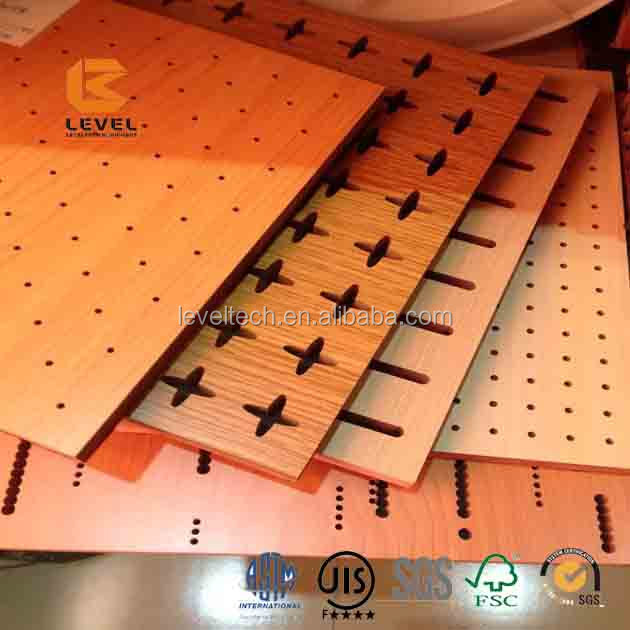 Micro Perforated Acoustic Panels MDF Perforation Wooden Acoustic Board For Ceiling And Auditorium