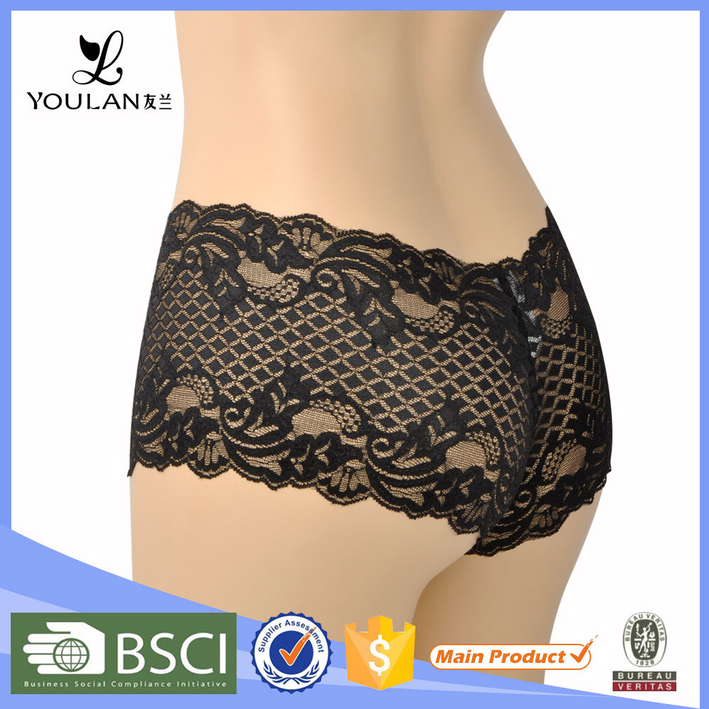 Hot Design Latest Fashion Spandex Transparent 2015 Sheer Lace Panties