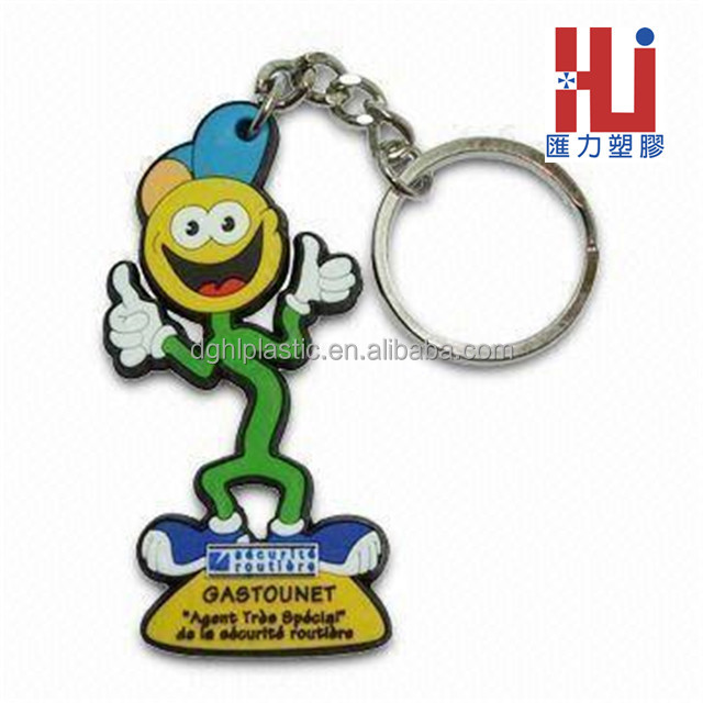 Customized logo motorcycle keychain lover design rubber keychain